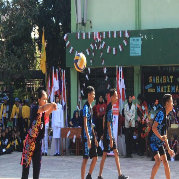 Promosi Ekstrakulikuler Bola Voli dalam rangkaian kegiatan Masa Pengenalan Lingkungan Sekolah Tahun Pelajaran 2018